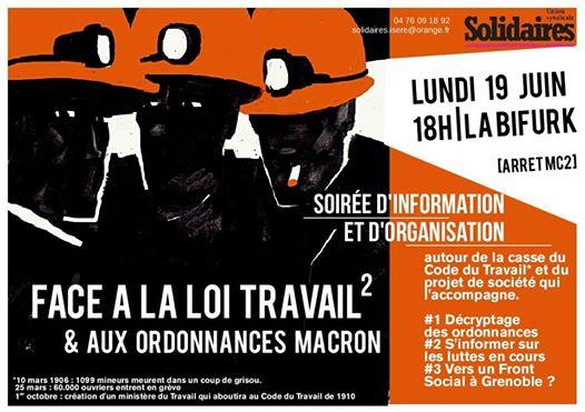 Combatucada - Face à la Loi Travail 2 & aux ordonnances Macron 19 Juin 2017